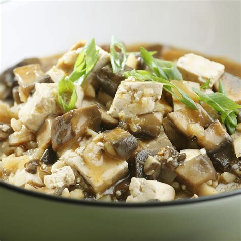 tofu cuisine braised mushrooms tofu recipe eatingwell