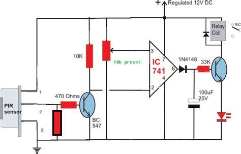 Build Passive Infrared Sensor Circuit Diagram Lekule Blog