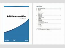 Debt Management Plan Template – Microsoft Word Templates
