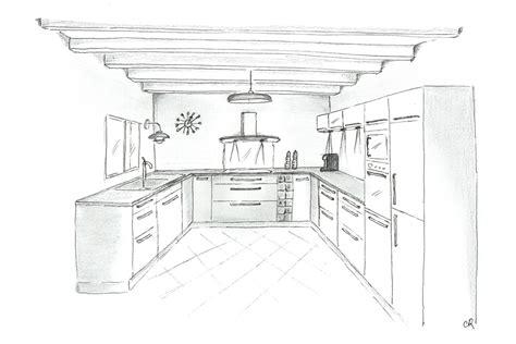 dessiner cuisine 3d comment dessiner un plan de maison en perspective auto design tech