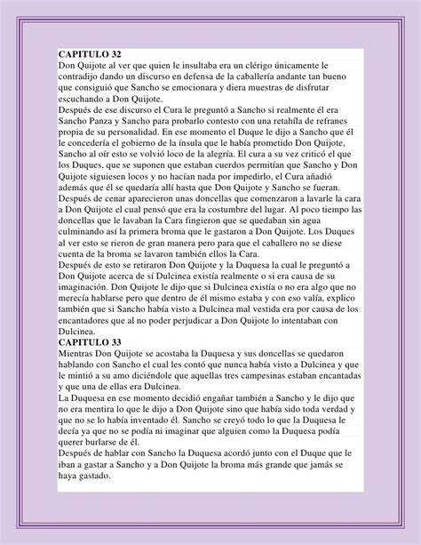 Resumen Cap 1 Don Quijote by Resumen De Don Quijote