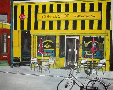 mellow yellow siege social mellow yellow coffeeshop painting by joseph falco