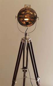 retro chrome shutter corner tripod floor lamp for corner With floor lamp tall chrome tripod lamp