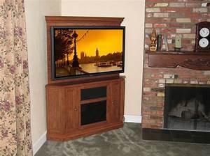 Hand Crafted Custom Corner Oak Tv Stand Entertainment