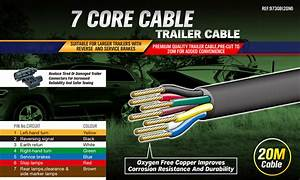 20m X 7 Core Wire Cable Trailer Cable Automotive Boat Caravan Truck Coil V90 Pvc