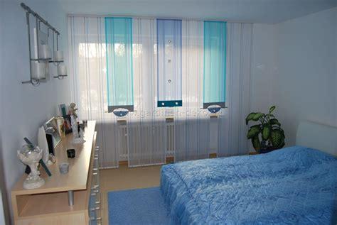 Helle Schlafzimmer Schiebegardine In Blau Und Türkis