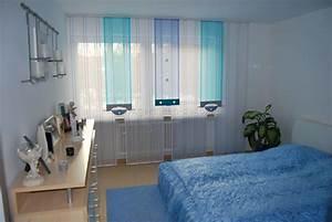 Helle schlafzimmer schiebegardine in blau und t rkis for Schlafzimmer türkis