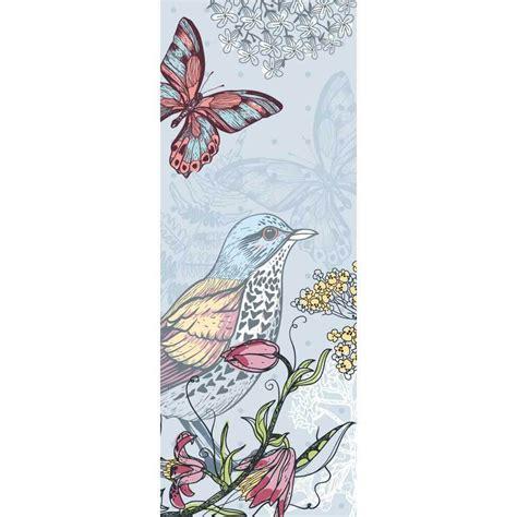 Tapisserie Fleurs by Papier Peint Oiseaux Fleurs