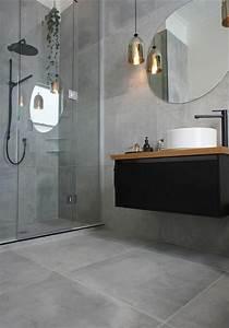 le carrelage effet beton en 55 photos inspirantes With beton cire pour carrelage salle de bain