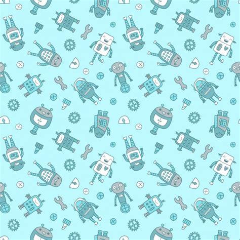 Robot Background Robots Pattern Design Vector Free