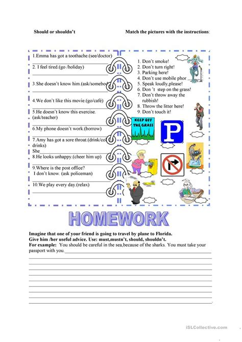 Should, Must Worksheet  Free Esl Printable Worksheets Made By Teachers
