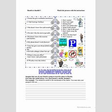 Should, Must Worksheet  Free Esl Printable Worksheets Made By Teachers