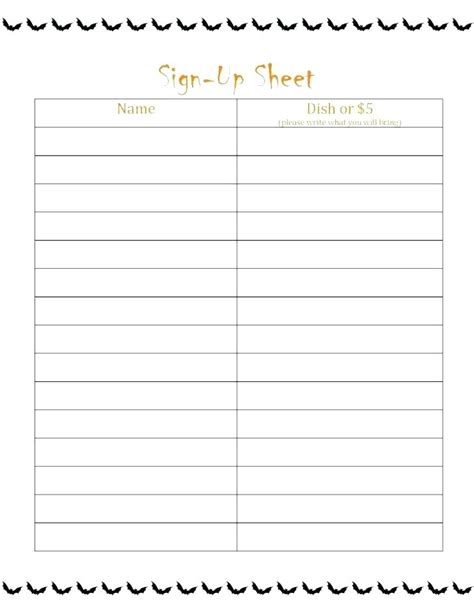 volunteer signup sheet template lascazuelasphillycom