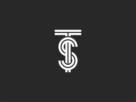 logo ts letters monogram linear art  sergii syzonenko  dribbble