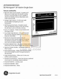 Pdf Manual For Ge Oven Monogram Zet938smss