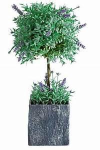 Baum Im Topf : lavendel baum blume vase gr n kunstblume deko topf schale ~ Michelbontemps.com Haus und Dekorationen
