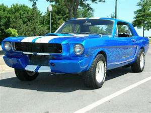 1960s Ford Mustang with White Stripes