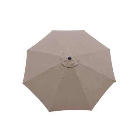 9 ft tilt patio umbrella in chagne and cast iron patio