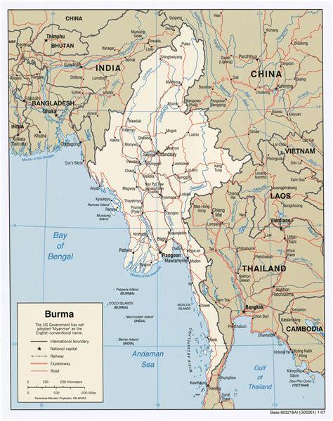 maps  myanmar burma map library maps   world