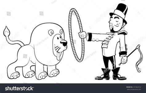 Lion Tamer Lion Funny Cartoon Vector Stock Vector