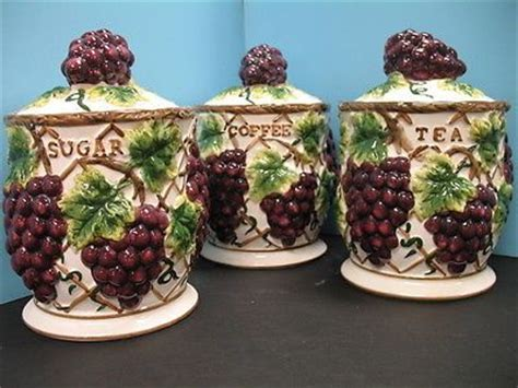 grape canister sets kitchen 11 best images about wine bottle grapes for kitchen on pinterest cookie jars canister sets