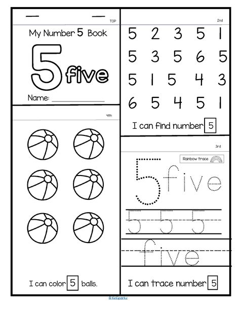 20 NUMBERS Flip Flap Books - Number Recognition, Tracing and Counting
