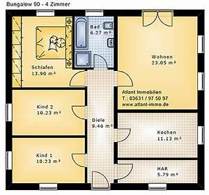 Grundrisse Für Bungalows 4 Zimmer : bungalow 90 4 zimmer einfamilienhaus neubau massivbau stein auf stein ~ Sanjose-hotels-ca.com Haus und Dekorationen