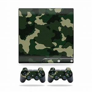 Skin Decal for Sony Playstation 3 PS3 Slim + 2 controllers ...