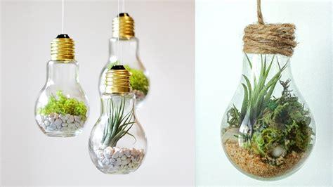 diy crafts  room decor terrarium   ligh bulb