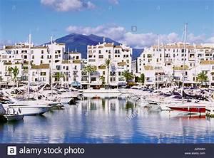 The Marina And Town At Puerto Banus Costa Del Sol Spain