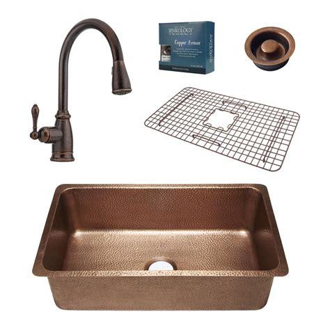 bronze undermount kitchen sink sinkology pfister all in one david 31 1 4 in undermount 4931