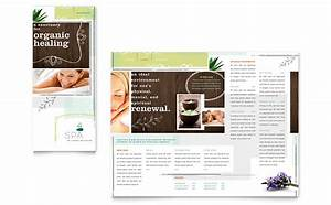 day spa tri fold brochure template word publisher With free massage therapy brochure templates