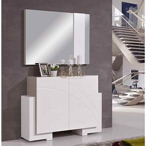 meuble entree contemporain miroir style With meuble d entree contemporain