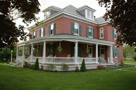 wraparound porch wrap around porch and brick home