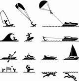 Vector Parasailing Clip Vectors Ski Illustrations Water Jet Premium sketch template