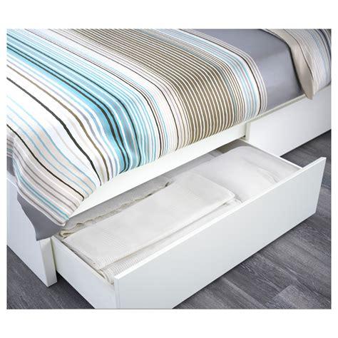 Ikea King Size Storage Headboard by Malm Bed Frame High W 2 Storage Boxes White Leirsund