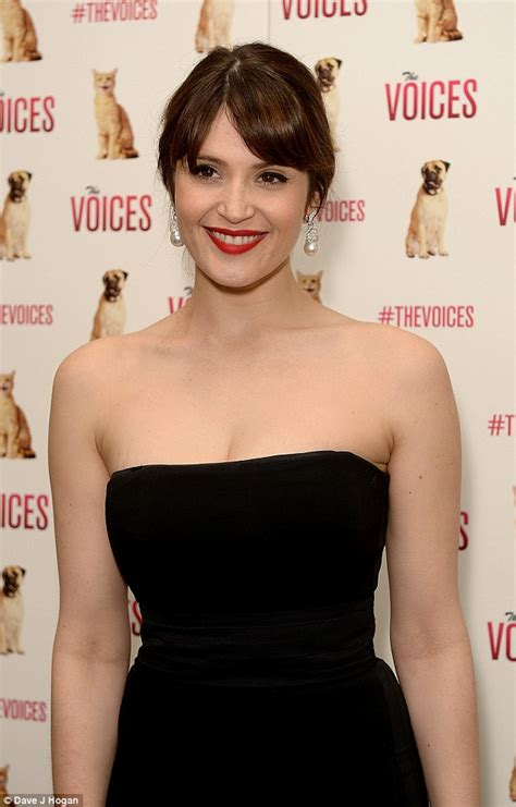 Gemma Arterton Showcases Her Svelte Physique To Promote The Voices Daily Mail Online