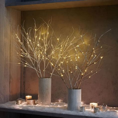 festive and modern lights our battery operated led branches light up vases mantels and