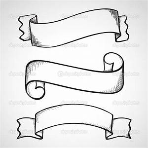 20 Hand Drawn Ribbon Vector Images - Hand Drawn Vector ...