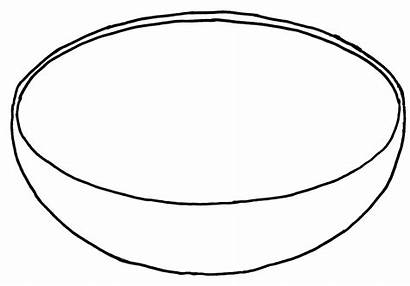 Bowl Fruit Coloring Printable Clipart Template Basket