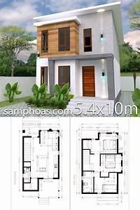 Plan De Petite Maison 5 4x10m Avec 3 Chambres