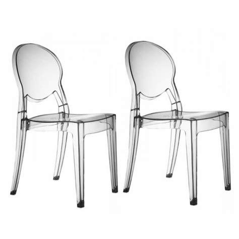 chaises transparentes design r 233 gence soldes chaise transparente atylia ventes pas cher