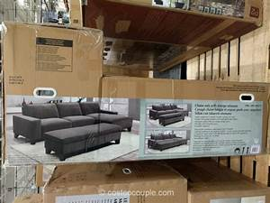 fabric chaise sofa fabric chaise sofa ideas thesofa With costco sectional sofa with storage ottoman