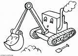 Digger Coloring Excavator Backhoe Printable Drawing Son Grave Template Truck Getdrawings Getcolorings Monster Jam Templates Trucks Colorings sketch template