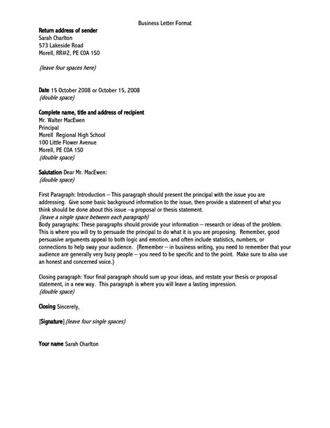 proper format for a business letter correct letter address format letters free sle letters