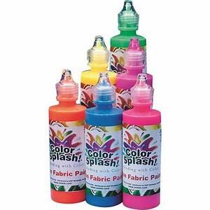 Color Splash Neon Fabric Paint 4 oz Set of 6 Walmart