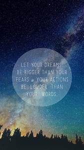 Free inspirational iPhone wallpapers ☆ ☆ ☆ Let your dreams ...