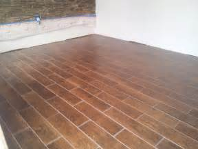 6 quot x 24 quot floor tile that looks like wood planking above rpm mats heat wire