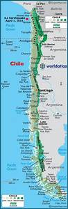 Chile Maps Including Outline And Topographical Maps