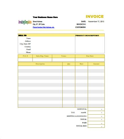simple construction html template billing invoice template free invoice exle